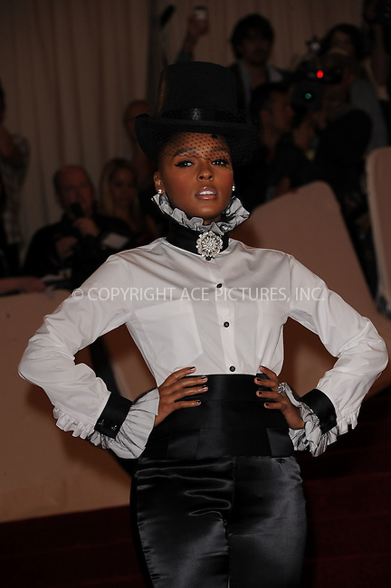 WWW.ACEPIXS.COM . . . . . ....May 2 2011, New York City....Janelle Monae arriving at the 'Alexander McQueen: Savage Beauty' Costume Institute Gala at The Metropolitan Museum of Art on May 2, 2011 in New York City. ....Please byline: KRISTIN CALLAHAN - ACEPIXS.COM.. . . . . . ..Ace Pictures, Inc:  ..(212) 243-8787 or (646) 679 0430..e-mail: picturedesk@acepixs.com..web: http://www.acepixs.com