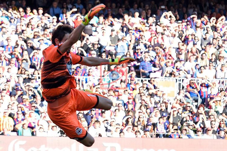 League Santander 2016/2017. Game: 8.<br /> FC Barcelona vs Deportivo: 4-0.<br /> Lux.