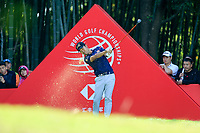 Kevin Na (USA) on the 16th tee during the 3rd round at the WGC HSBC Champions 2018, Sheshan Golf CLub, Shanghai, China. 27/10/2018.<br /> Picture Fran Caffrey / Golffile.ie<br /> <br /> All photo usage must carry mandatory copyright credit (&copy; Golffile | Fran Caffrey)