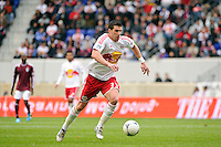 Kenny Cooper (33) of the New York Red Bulls. The New York Red Bulls defeated the Colorado Rapids 4-1 during a Major League Soccer (MLS) match at Red Bull Arena in Harrison, NJ, on March 25, 2012.