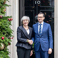 Theresa May meets Prime Minister of Poland Mateusz Morawiecki at Number 10 Downing Street