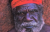 Aboriginal elder from the Ayers Rock area or also know as Uluru in Central Australia. Northern Territory