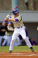 Austin Neary (33) of the Western Carolina Catamounts at bat against the Davidson Wildcats at Wilson Field on March 10, 2013 in Davidson, North Carolina.  The Catamounts defeated the Wildcats 5-2.  (Brian Westerholt/Four Seam Images)