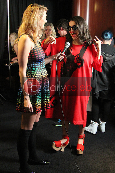 Maude Garrett, Charli XCX<br /> Red Carpet Radio presents Grammys Radio Row Day 1 at the Staples Center in Los Angeles, CA<br /> David Edwards/DailyCeleb.com 818-249-4998