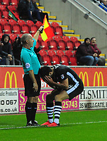 Lincoln City's Ollie Palmer reacts to a decision made by the assistant referee<br /> <br /> Photographer Chris Vaughan/CameraSport<br /> <br /> The Carabao Cup First Round - Rotherham United v Lincoln City - Tuesday 8th August 2017 - New York Stadium - Rotherham<br />  <br /> World Copyright &copy; 2017 CameraSport. All rights reserved. 43 Linden Ave. Countesthorpe. Leicester. England. LE8 5PG - Tel: +44 (0) 116 277 4147 - admin@camerasport.com - www.camerasport.com