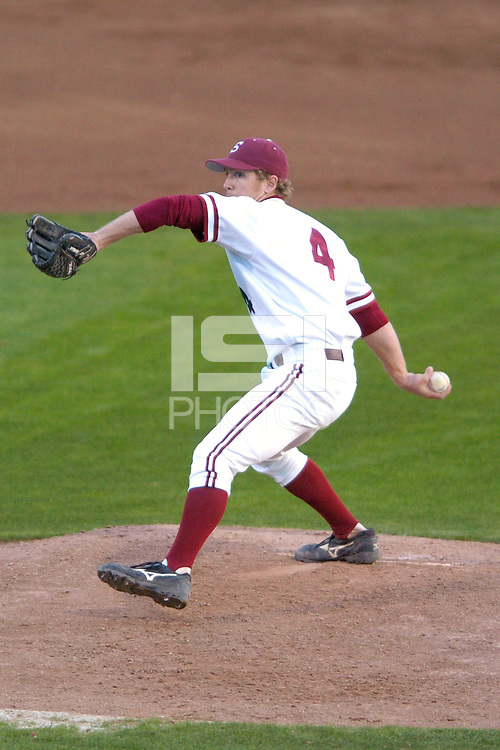 20 February 2007: Stanford Cardinal Austin Yount during Stanford's 4-1 win against the San Francisco Dons at Sunken Diamond in Stanford, CA.