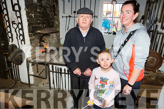 Maurice and Mary Williams with Kerry Allen in the the forge admiring the old tradition at the Annual Heritage Day at the Old Forge Churchill on Saturday.