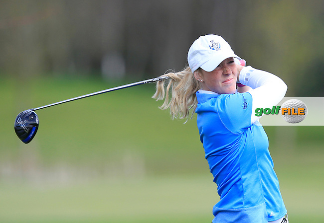 Petronelia Hjort (SWE) on the 13th tee during Round 3 of the Irish Girl's Open Stroke Play Championship at Roganstown Golf &amp; Country Club on Sunday 17th April 2016.<br /> Picture:  Thos Caffrey / www.golffile.ie