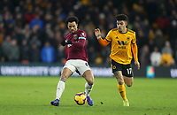 West Ham United's Felipe Anderson and Wolverhampton Wanderers' Morgan Gibbs-White<br /> <br /> Photographer Rob Newell/CameraSport<br /> <br /> The Premier League - Wolverhampton Wanderers v West Ham United - Tuesday 29th January 2019 - Molineux - Wolverhampton<br /> <br /> World Copyright © 2019 CameraSport. All rights reserved. 43 Linden Ave. Countesthorpe. Leicester. England. LE8 5PG - Tel: +44 (0) 116 277 4147 - admin@camerasport.com - www.camerasport.com