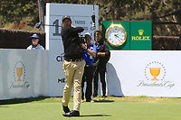 Adam Scott (International) on the 16th tee during the First Round - Four Ball of the Presidents Cup 2019, Royal Melbourne Golf Club, Melbourne, Victoria, Australia. 12/12/2019.<br /> Picture Thos Caffrey / Golffile.ie<br /> <br /> All photo usage must carry mandatory copyright credit (© Golffile | Thos Caffrey)