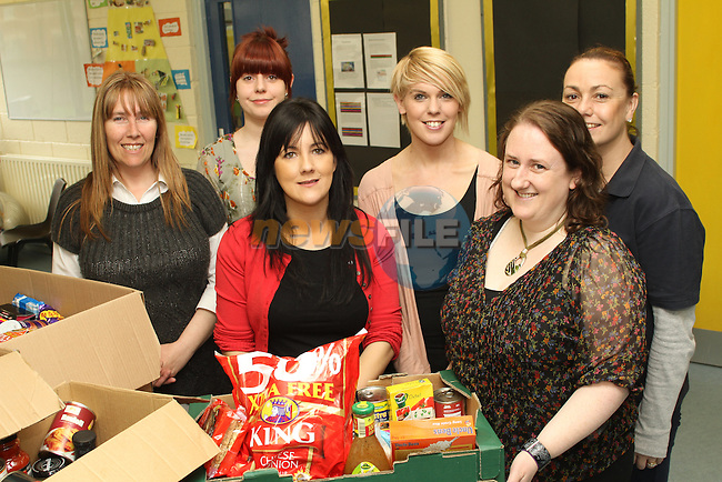 Suzanne Costello, Alison Harmon, Lorraine Martin and Yvonne Cummins with Niamh Rooney and Ciara Branigan at the presentation from St.Itas School to Drogheda Homeless Aid...(Photo credit should read Jenny Matthews www.newsfile.ie)....This Picture has been sent you under the conditions enclosed by:.Newsfile Ltd..The Studio,.Millmount Abbey,.Drogheda,.Co Meath..Ireland..Tel: +353(0)41-9871240.Fax: +353(0)41-9871260.GSM: +353(0)86-2500958.email: pictures@newsfile.ie.www.newsfile.ie.