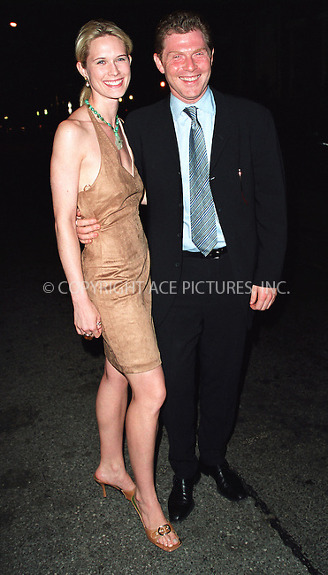 Bobby Flay and Stephanie March arriving at the party celebration of the first anniversary of his club Man Ray. New York, July 10, 2002. Please byline: Alecsey Boldeskul/NY Photo Press.   ..*PAY-PER-USE*      ....NY Photo Press:  ..phone (646) 267-6913;   ..e-mail: info@nyphotopress.com