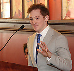 Ethan Slater during the 2018 Outer Critics Circle Theatre Awards presentation at Sardi's on May 24, 2018 in New York City.