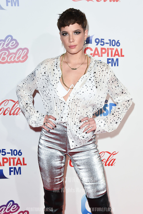 LONDON, UK. December 08, 2018: Halsey at Capital&rsquo;s Jingle Bell Ball 2018 with Coca-Cola, O2 Arena, London.<br /> Picture: Steve Vas/Featureflash