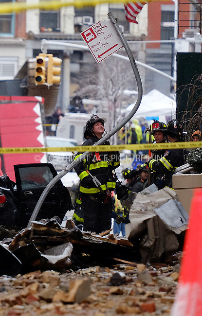 WWW.ACEPIXS.COM<br /> <br /> February 5 2016, New York City<br /> <br /> General views of a crane collapse which killed one and injured several others on Worth Street in Tribeca on February 5 2016 in New York City<br /> <br /> By Line: Curtis Means/ACE Pictures<br /> <br /> <br /> ACE Pictures, Inc.<br /> tel: 646 769 0430<br /> Email: info@acepixs.com<br /> www.acepixs.com