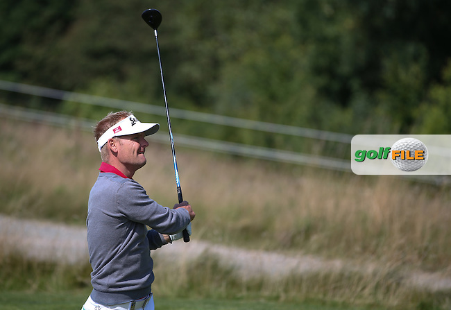 Soren Kjeldsen (DEN) plays down the 4th during the Final Round of the D&D Real Czech Masters 2014 from the Albatross Golf Resort, Vysoky Ujezd, Prague. Picture:  David Lloyd / www.golffile.ie