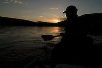 Dave Gentempo enjoys the sunset in Horsethief Canyon on the Colorado River in western Colorado.