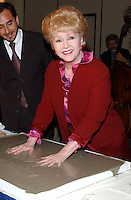 """28 December 2016 - Debbie Reynolds, the Oscar-nominated """"Singin' in the Rain,""""  singer-actress who was the mother of late actress Carrie Fisher, has died. She was 84. """"She wanted to be with Carrie,"""" her son Todd Fisher told Variety. She was taken to the hospital from Todd Fisher's Beverly Hills house Wednesday after a suspected stroke, the day after her daughter Carrie Fisher died. File Photo: Mar 26, 2003; Hollywood, CA, USA; Actor DEBBIE REYNOLDS @ the Hollywood Chamber of Commerce 82nd Annual Meeting & Lifetime Achievement Luncheon honoring Debbie Reynolds held at the Renaissance Hollywood Hotel. Photo Credit: Laura Farr/AdMedia"""