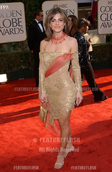 MARIA MENOUNOS at the Golden Globe Awards at the Beverly Hills Hilton Hotel..19JAN2003...© Paul Smith / Featureflash