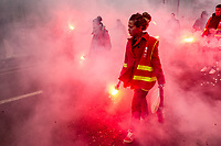 French workers strike & protest against Macron's reforms.