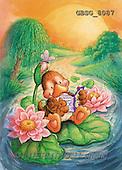 Ron, CUTE ANIMALS, Quacker, paintings, brown duck reading(GBSG8087,#AC#) Enten, patos, illustrations, pinturas