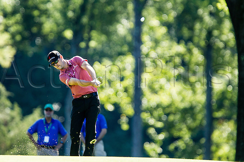 28.08.2015. Edison, NJ, USA.  Zach Johnson hits his approach shot from the 15th fairway during the second round of The Barclays at Plainfield Country Club in Edison, NJ.