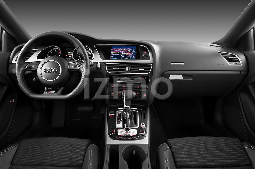 2012 Audi A5 S Line Coupe Straight Dashboard View Izmostock