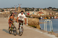 Clinton Johns and girlfriend Georgina , Hayle , Cornwall . July 2013 , pic copyright Steve Behr / stockfile