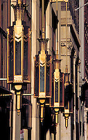 ART DECO LIGHT FIXTURES OUTDOORS. Philadelphia Penn. USA