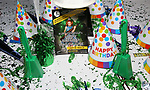 "Wanda June's Birthday Cake at the Birthday Party Photo Call for the Wheelhouse Theater Company production of Kurt Vonnegut's ""Happy Birthday, Wanda June""  on October 3, 2018 at Bond 45 Times Square in New York City."