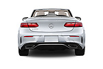Straight rear view of a 2018 Mercedes Benz E Class E400 2 Door Convertible stock images