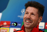 Atletico Madrid's coach Diego Simeone speaks during a press conference on November 25, 2019 at the Juventus Allianz stadium in Turin, on the eve of the UEFA Champions League Group D football match Juventus vs Atletico<br /> UPDATE IMAGES PRESS/Isabella Bonotto