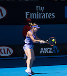 Simone Halep (ROU) defeats Karin Knapp (ITA) 6-3, 6-2 at the Australian Open being played at Melbourne Park in Melbourne, Australia on January 19, 2015