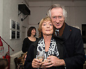 London, UK. 24.02.2014. Dame Gillian Lynne, and her husband, Peter Land, at the after party for press night of The A to Z of Mrs P, which premieres at Southwark Playhouse. © Jane Hobson.