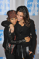 L.A. Gay & Lesbian Center's 'An Evening With Women' at The Beverly Hilton Hotel on May 19, 2012 in Beverly Hills, California. © mpi35/MediaPunch Inc. Pictured- Linda Perry and Gina Gershon
