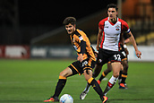 3rd October 2017, The Abbey Stadium, Cambridge, England; Football League Trophy Group stage, Cambridge United versus Southampton U21; Matthew Foy of Cambridge United under pressure from Alfie Jones of Southampton