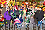 CHRISTMAS WREATHS: Kevin O'Connor of Garvey's SuperValu with members of the Name It women's group who made Christmas wreaths for the elderly of Spa Road and Ballloonagh presenting Mrs Mary McElligott her Christmas wreath at Garvey's SuperValu, Tralee on Friday front l-r: Ciara Maria O'Connor-Roche, Kevin Roche, Mrs Mary McElligott and Kevin O'Connor (Store manager Garvey's). Back l-r: Ted Cronin (Garvey's), Mary Redmond, Ann Healy, Jean McDonald, Patricia Flynn, Helen O'Connor, Helen O'Connor, Noreen Teahan, Shelia O'Driscoll, Mary Flarthy, Doreen O'Connell, Nora O'Neill, Nora Galvin, Ena Galvin and Danny McElligott.