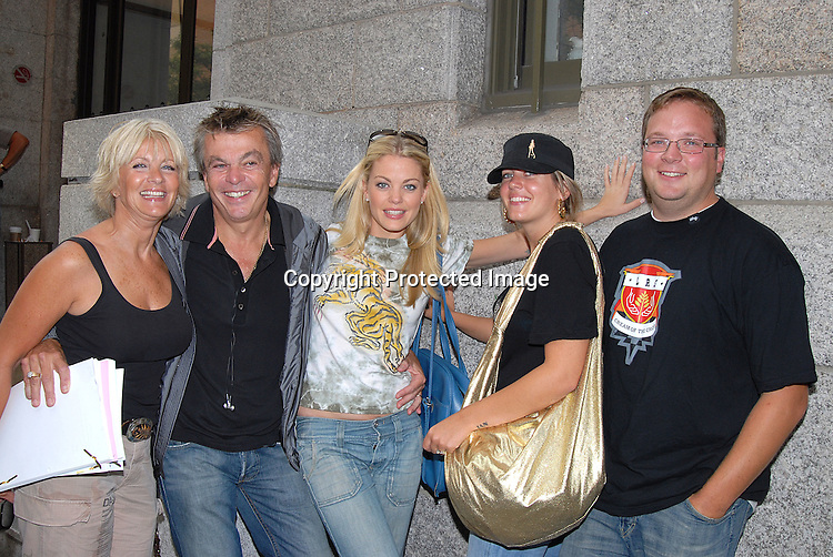 Bree Williamson and mom Maureen, dad Ted, sister Tarra and her husband Ian..outside One Life to Live on September 21, 2007 in New York City.  Timbaland was performing on the show. .. Photo by Robin Platzer, Twin Images......212-935-0770