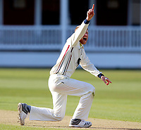 Hows that? Adam Riley of Kent traps Batty LBW during the friendly game between Kent CCC and Surrey at the St Lawrence Ground, Canterbury, on Thursday Apr 5, 2018