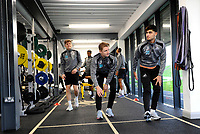(L-R) Daniel James, George Byers and Yan Dhanda  of Swansea City during the Swansea City Training at The Fairwood Training Ground in Swansea, Wales, UK. Tuesday 08 January 2019