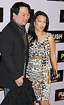 "WESTWOOD, CA. - January 29: Actress Ming-Na and husband Eric Zee arrive at the Los Angeles Premiere of ""Push"" at the Mann Village Theater on January 29, 2009 in Westwood, California."