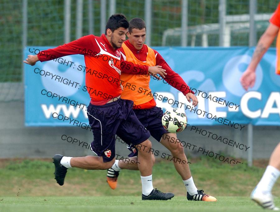 FUDBAL - PRIPREME - CRVENA ZVEZDA - TRENING - Danijel Avramovski i Darko Lazic fudbaleri Crvene Zvezde na treningu.<br /> Brezice, 18.06.2015.<br />                              foto:N.Skenderija