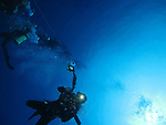 Orchid Island (蘭嶼), Taiwan -- Divers ascending on from Ba Dai Wreck (八代沉船)