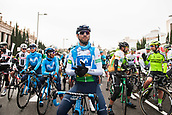 25th March 2018,Barcelona, Spain; Volta a Catalunya 2018 Cycling, Stage 7; Alejando Valverde of Movistar Team before the Start in Av Maria Cristina Barcelona