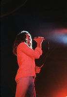 Ian Gillan of the rock group Deep Purple performs live in concert.