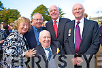 Pictured at the unveiling of the memorial to those who served in the First World War, in Killarney on Thursday were denis, Joan, John and Walter Lyons, Tralee with Walter Taylor, Currow.