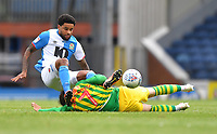 Blackburn Rovers' Dominic Samuel is fouled by  West Bromwich Albion's Filip Krovinovic<br /> <br /> Photographer Dave Howarth/CameraSport<br /> <br /> The EFL Sky Bet Championship - Blackburn Rovers v West Bromwich Albion - Saturday 11th July 2020 - Ewood Park - Blackburn <br /> <br /> World Copyright © 2020 CameraSport. All rights reserved. 43 Linden Ave. Countesthorpe. Leicester. England. LE8 5PG - Tel: +44 (0) 116 277 4147 - admin@camerasport.com - www.camerasport.com