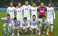 CARSON, CA - March 17, 2012: Vancouver Whitecaps FC starting lineup for the Chivas USA vs Vancouver Whitecaps FC match at the Home Depot Center in Carson, California. Final score Vancouver Whitecaps 1, Chivas USA 0.