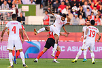 Mohamed Saad Alromaihi of Bahrain (C, front) fights for the ball with Kim Minjae of South Korea (C, back) during the AFC Asian Cup UAE 2019 Round of 16 match between South Korea (KOR) and Bahrain (BHR) at Rashid Stadium on 22 January 2019 in Dubai, United Arab Emirates. Photo by Marcio Rodrigo Machado / Power Sport Images
