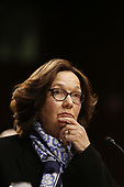 """Director Gina Haspel, Central Intelligence Agency (CIA) testifies before the United States Senate Select Committee on Intelligence during an open hearing on """"Worldwide Threats"""" on Capitol Hill in Washington, DC on Tuesday, January 29, 2019.<br /> Credit: Martin H. Simon / CNP"""